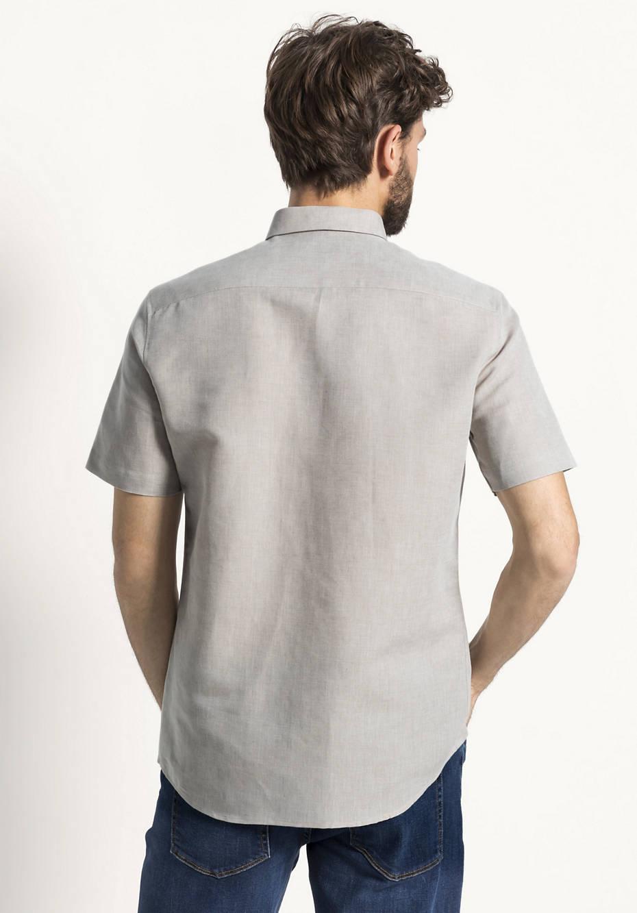 Hemd Modern Fit aus Leinen mit Bio-Baumwolle