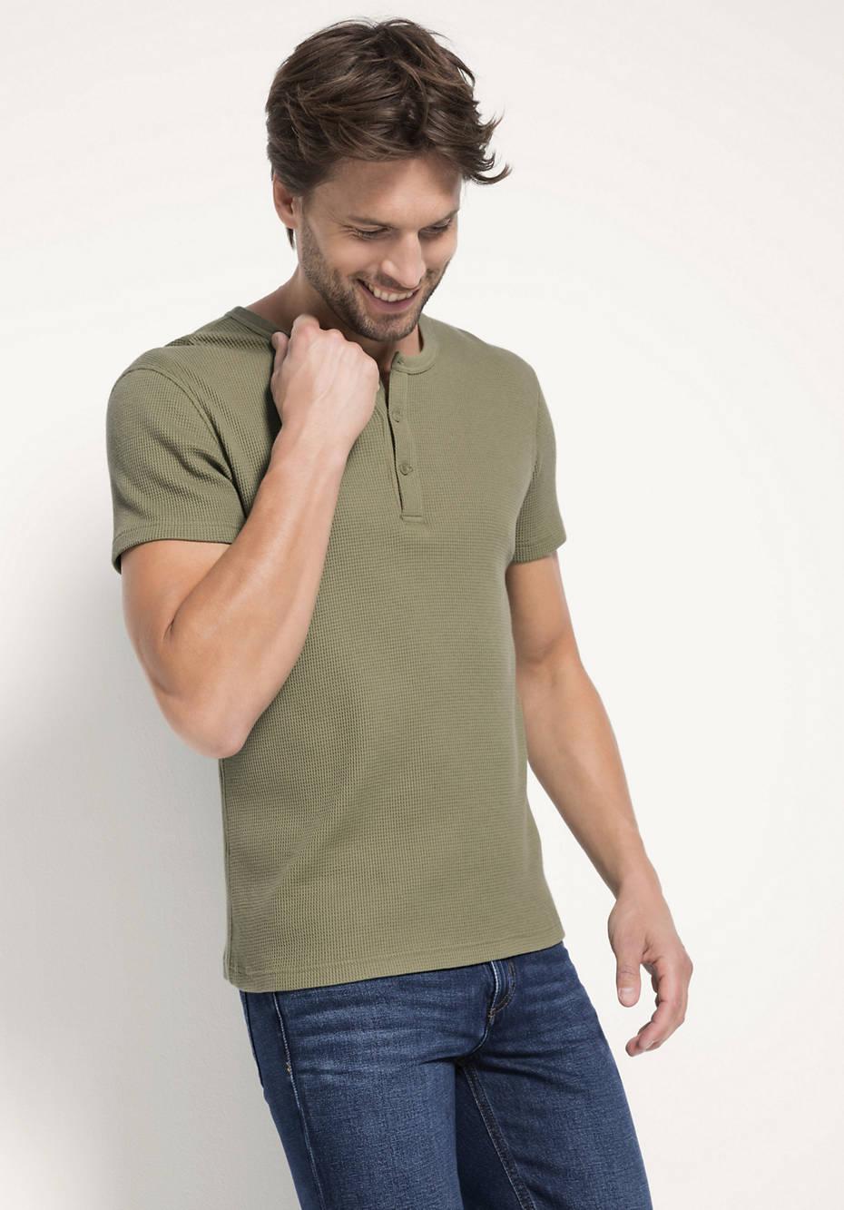 Henley-Shirt aus reiner Bio-Baumwolle