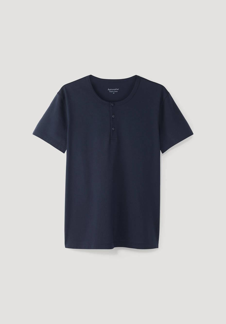 Henley shirt made of pure organic pima cotton