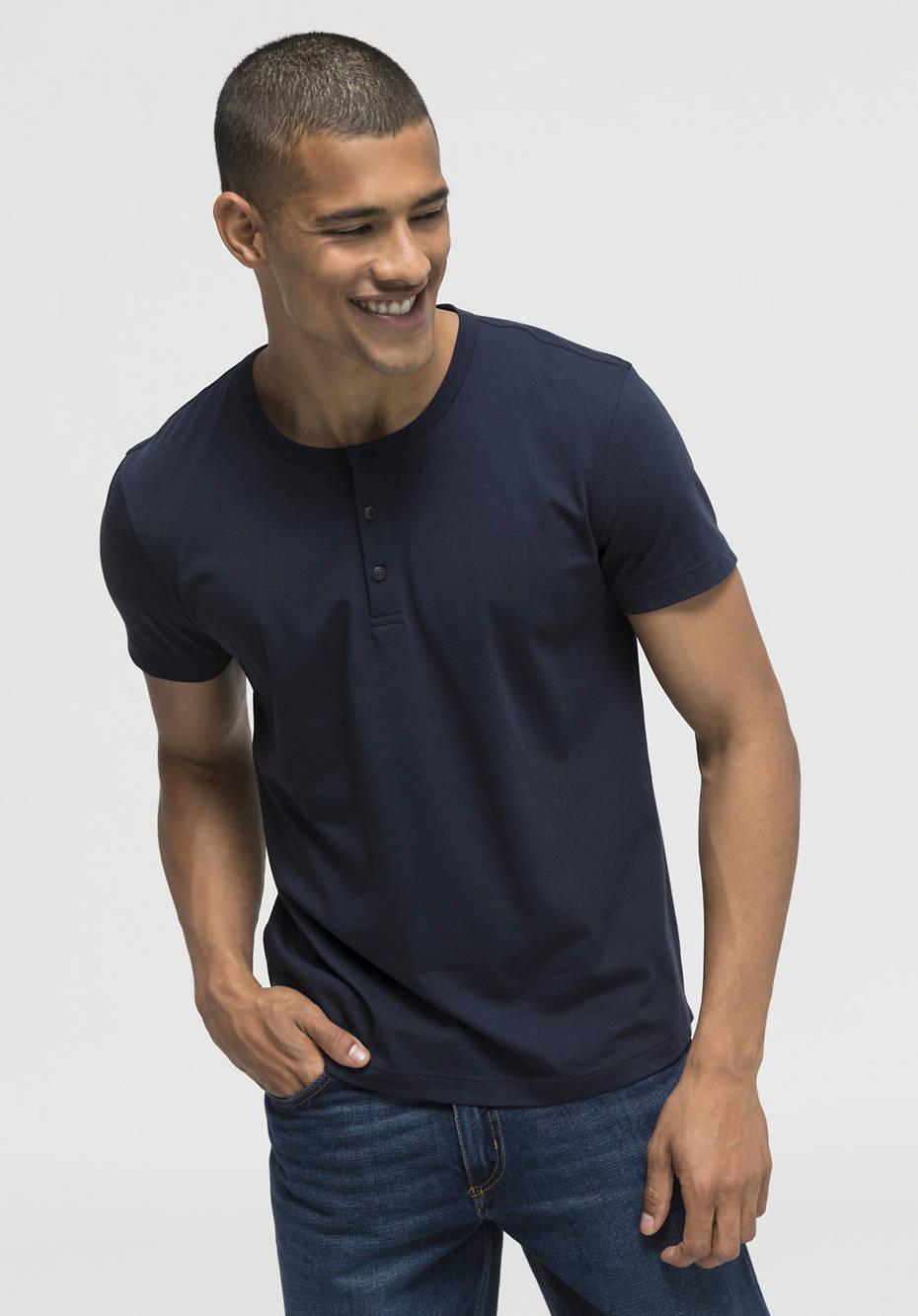 Henleyshirt aus reiner Bio-Pima-Baumwolle