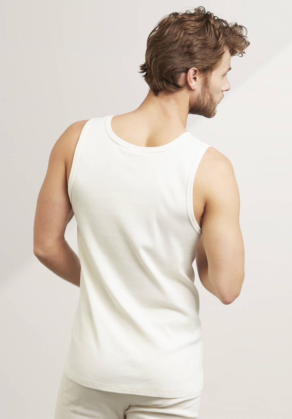Herren Achselshirt PureNATURE aus reiner Bio-Baumwolle