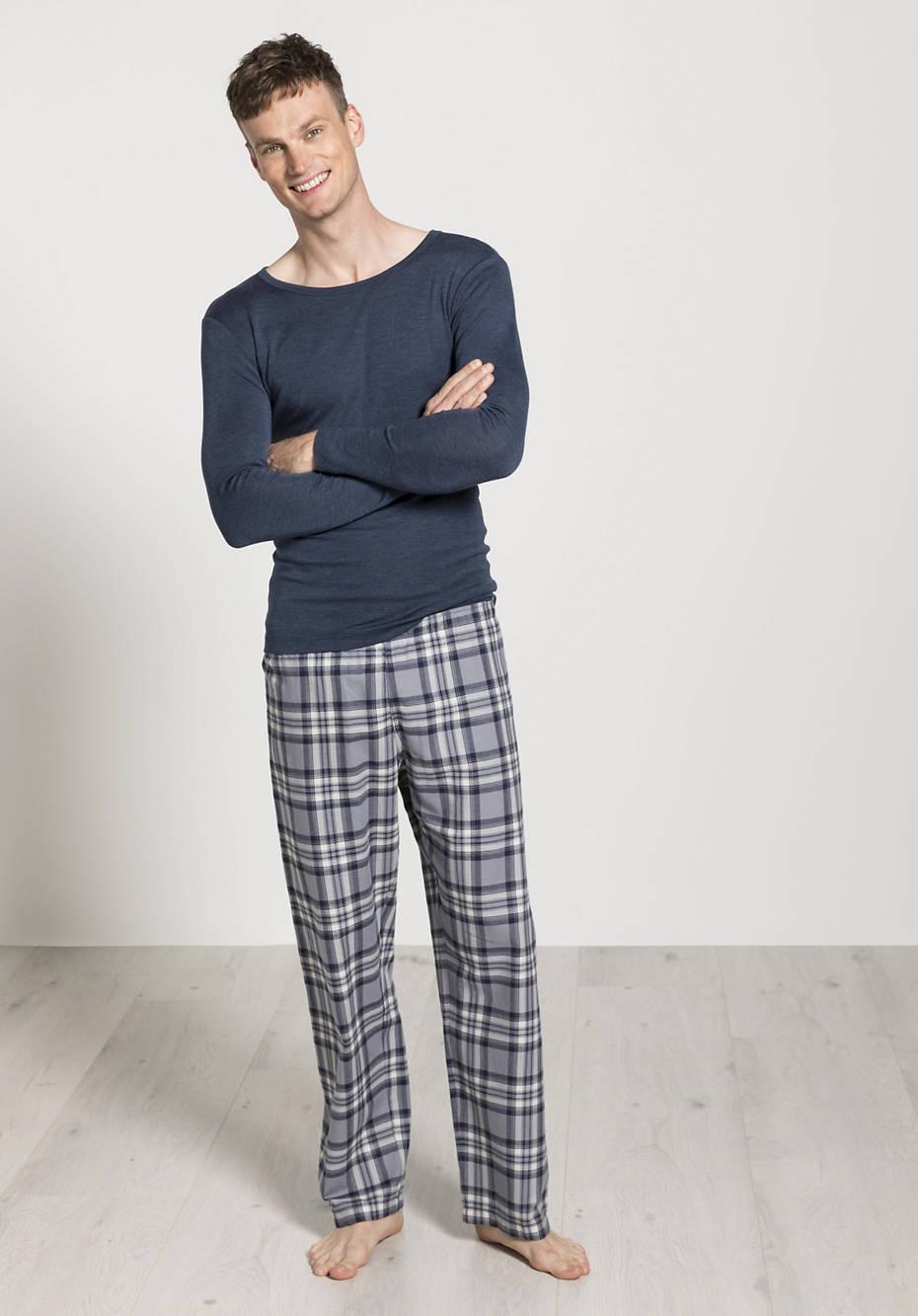 Herren Flanell-Pyjamahose aus reiner Bio-Baumwolle