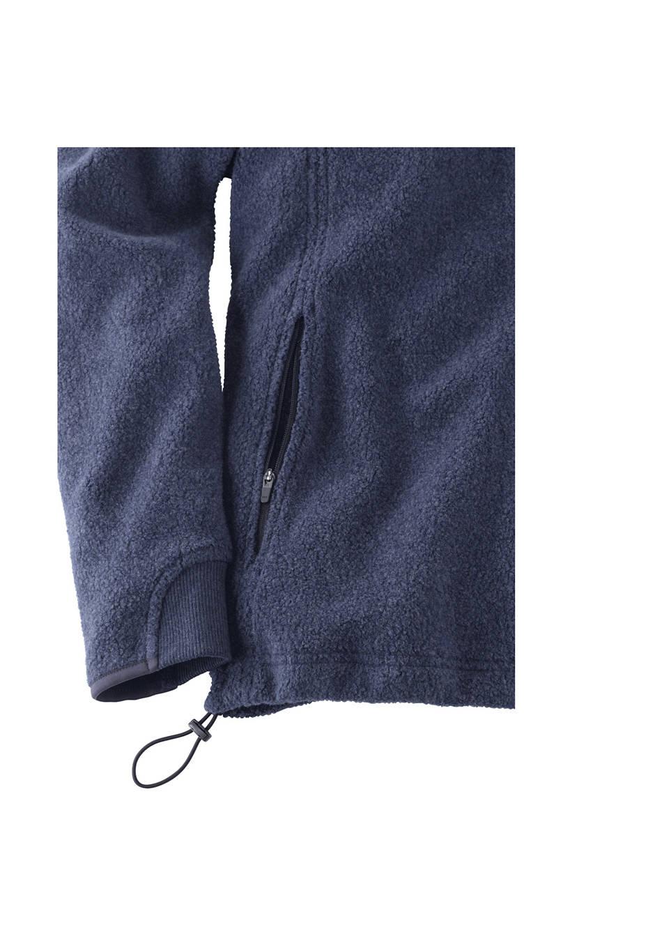 Herren Fleece-Kapuzenjacke aus reiner Bio-Baumwolle
