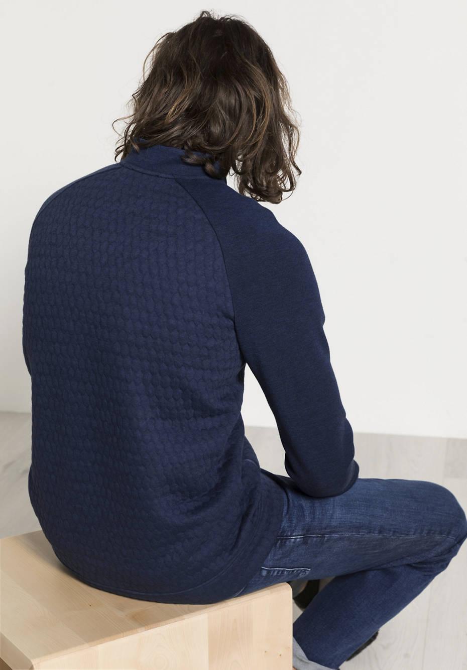 Herren Funktionsjacke aus Bio-Baumwolle mit Bio-Merinowolle