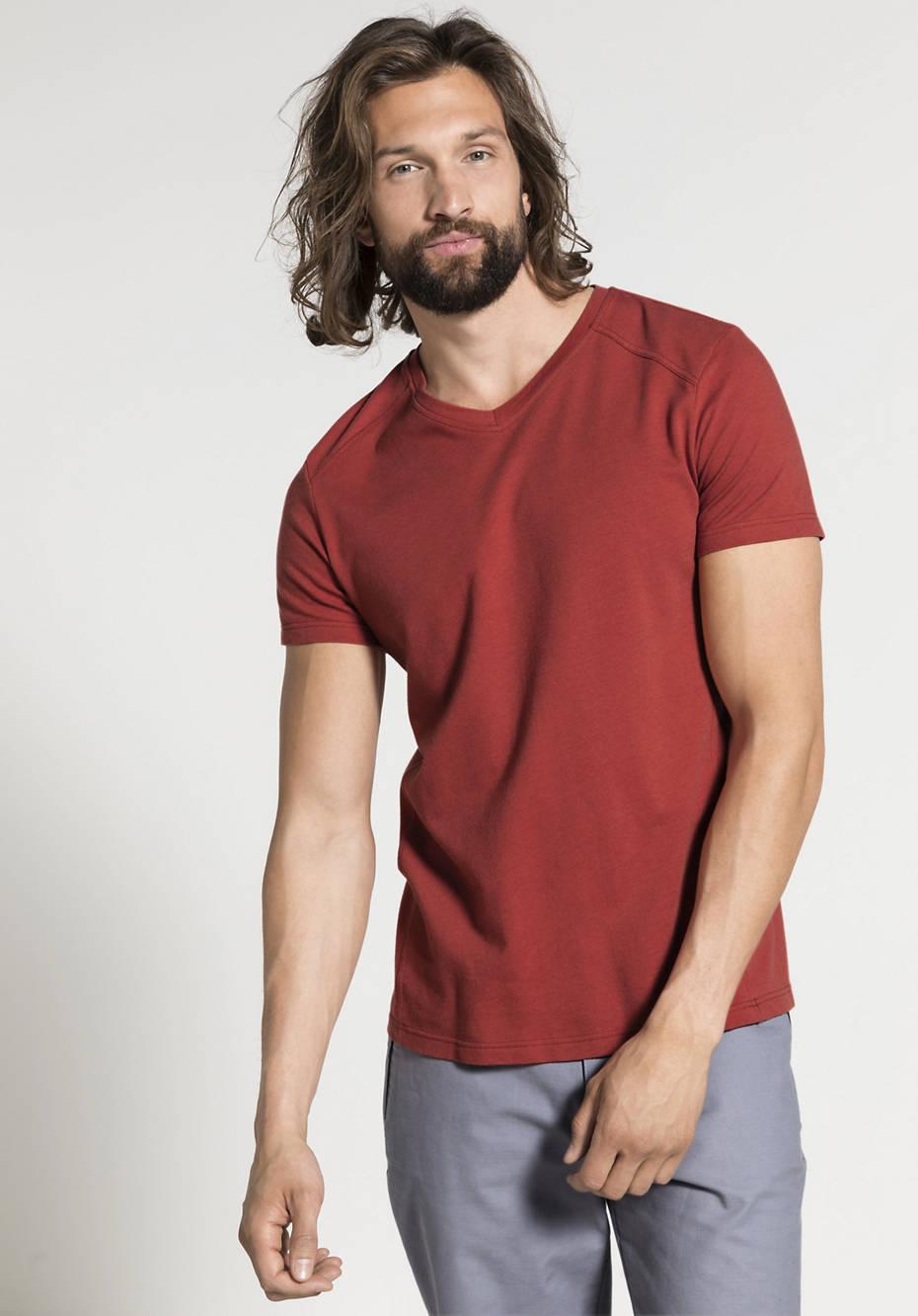 Herren Funktionsshirt aus Bio-Baumwolle mit Bio-Merinowolle