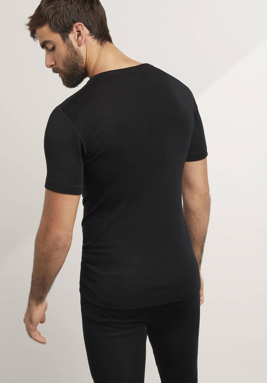 Herren Halbarm-Shirt PureMIX aus Bio-Merinowolle mit Seide