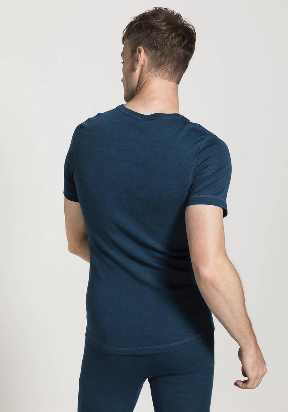 Herren Halbarm-Shirt PureWOOL aus reiner Bio-Merinowolle