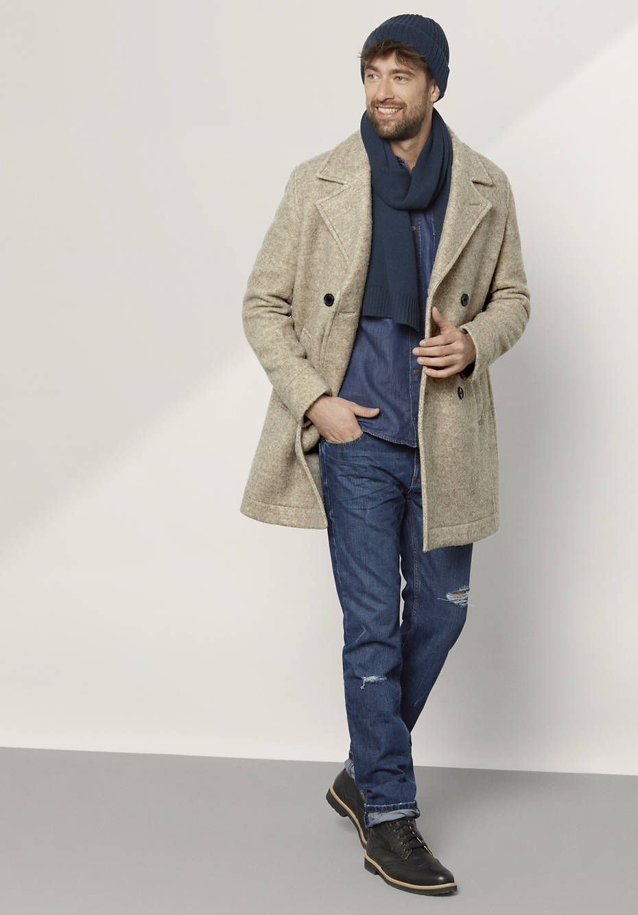 Herren Jacke aus reiner Schurwolle vom Rhönschaf