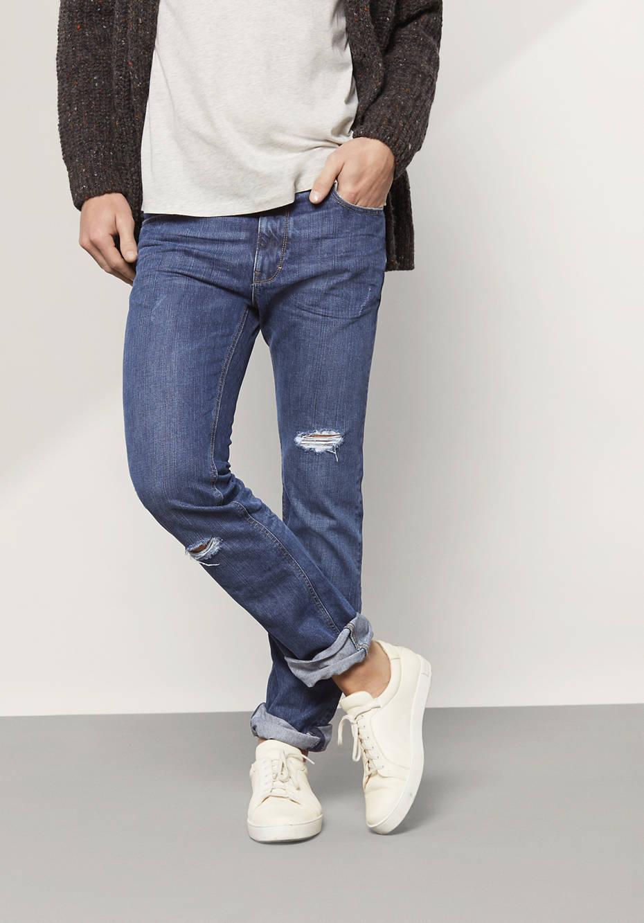 Herren Jeans Straight Fit Used aus reiner Bio-Baumwolle