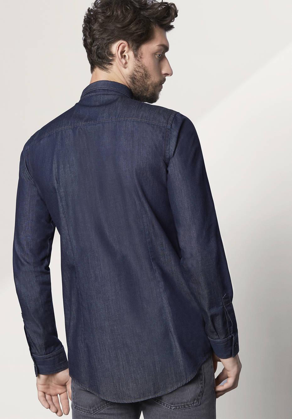 Herren Jeanshemd Modern Fit aus reiner Bio-Baumwolle