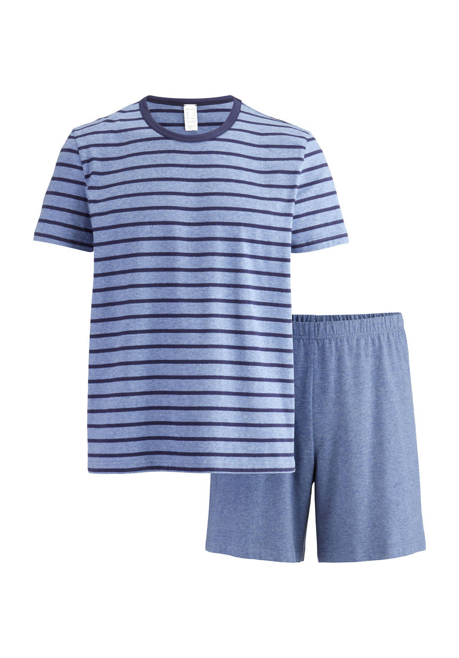 Herren Kurzer Pyjama aus reiner Bio-Baumwolle