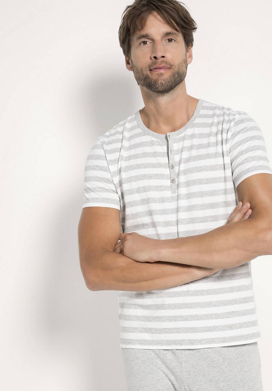 Herren Langer Pyjama aus reiner Bio-Baumwolle