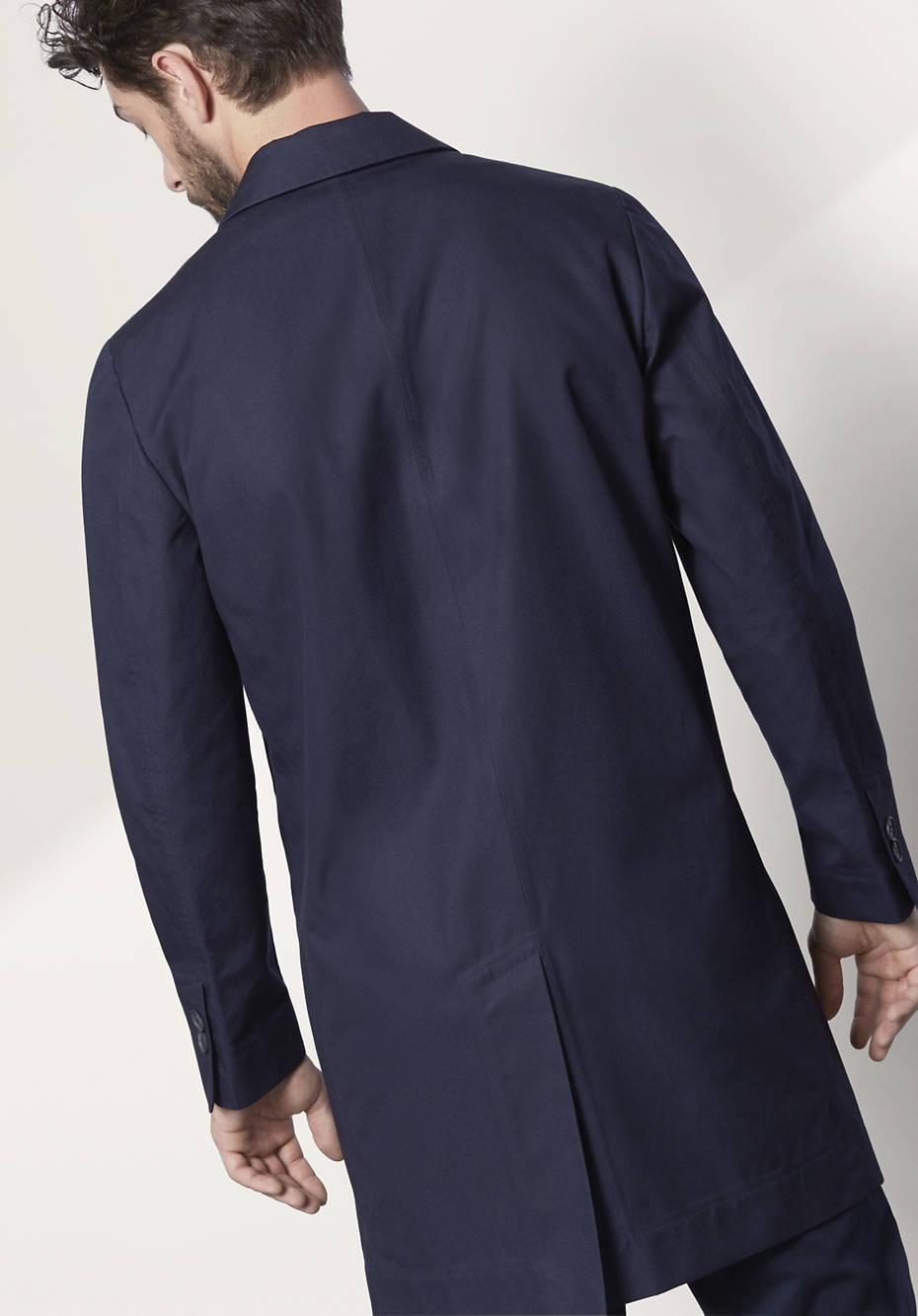Herren Mantel aus reiner Bio-Baumwolle