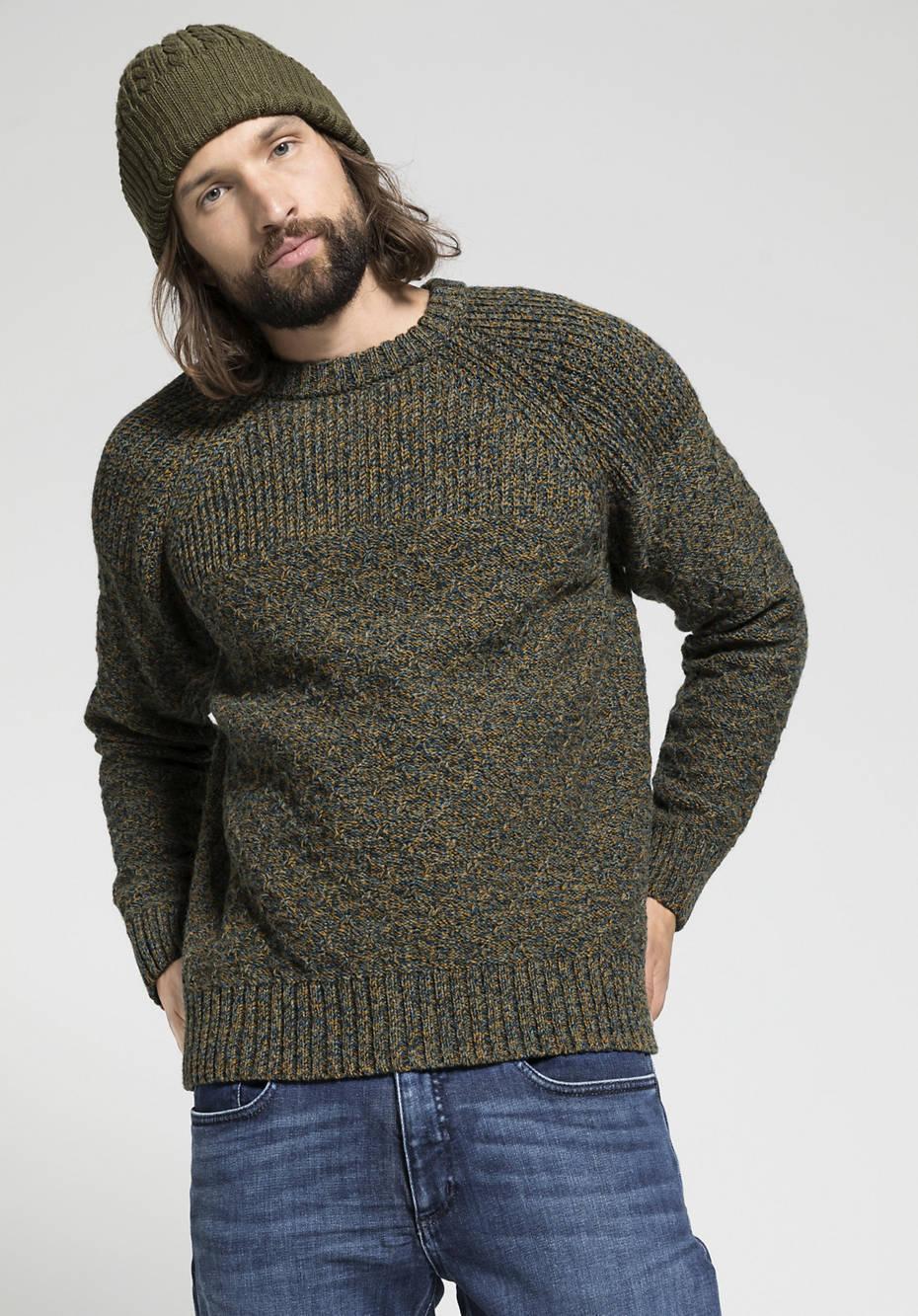 Herren Pullover aus reiner Shetlandwolle