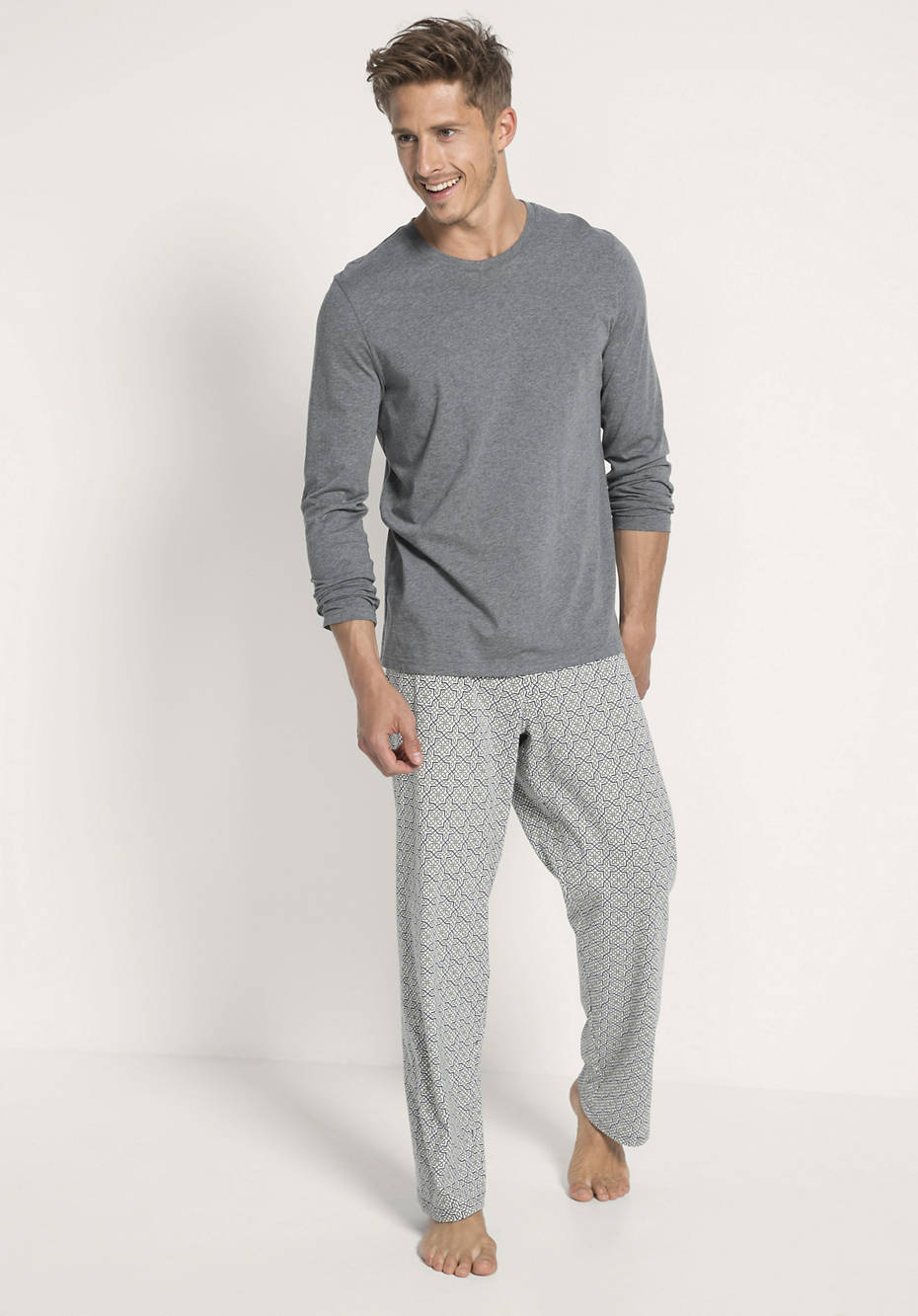 Herren Pyjama aus reiner Bio-Baumwolle