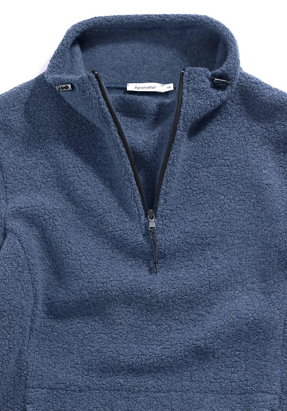 Herren Sweatshirt aus Schurwolle und Bio-Baumwolle