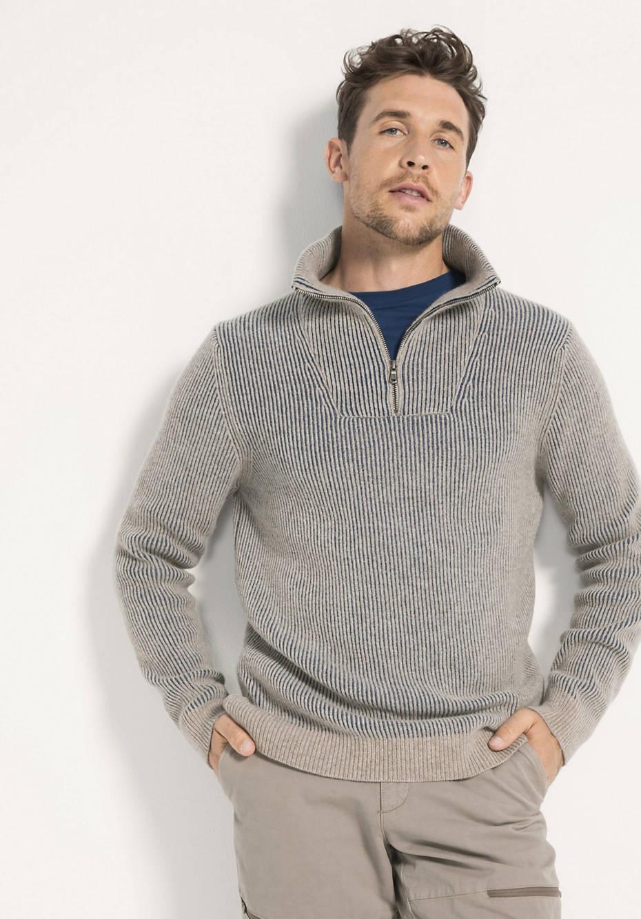 Herren Troyer aus Lambswool mit Bio-Baumwolle