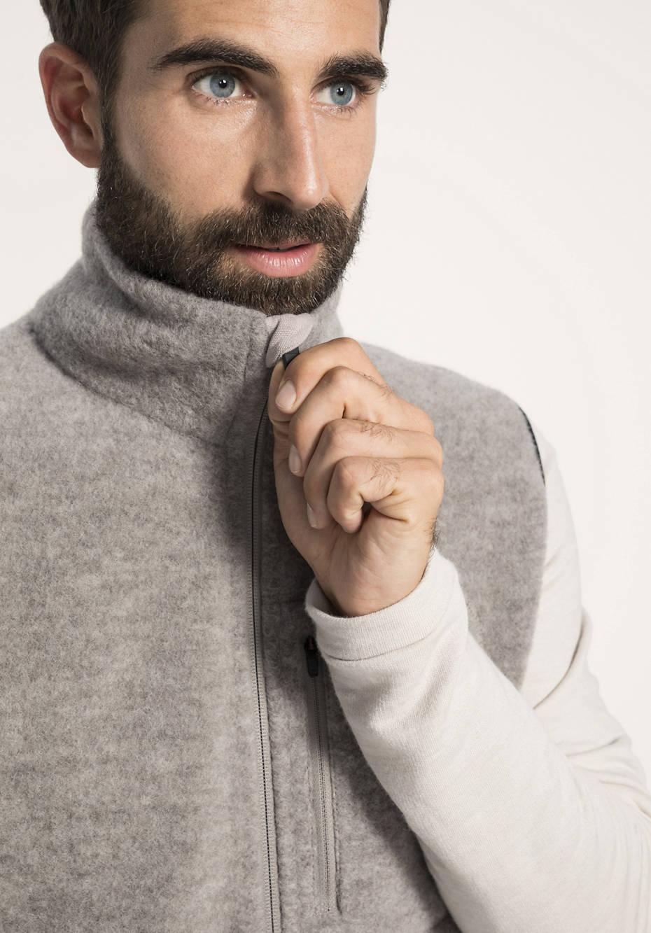 Herren Wollfleece-Weste aus reiner Bio-Schurwolle