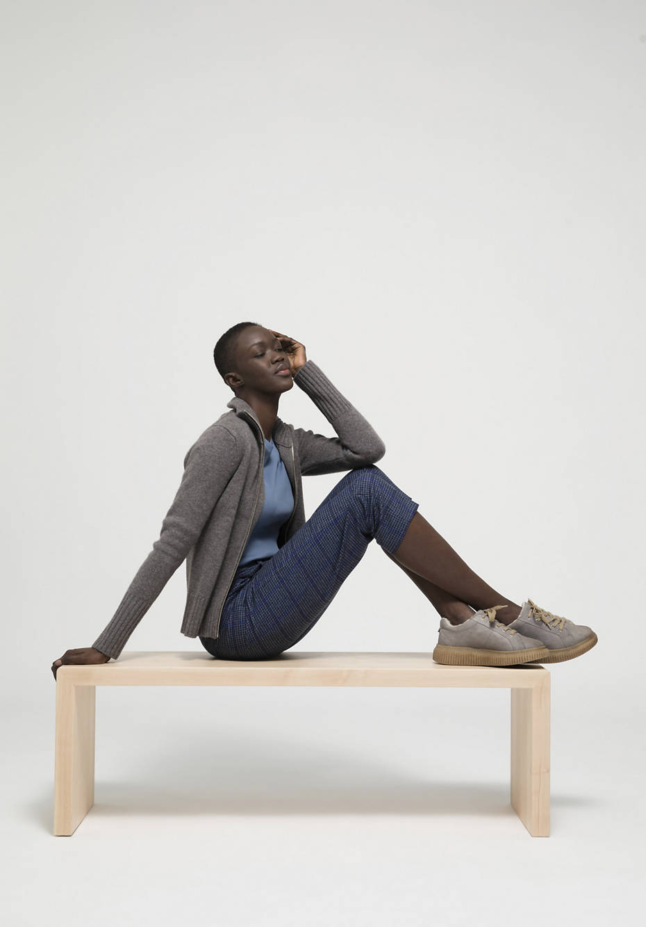 Hose Relaxed Fit aus reiner Bio-Merinowolle