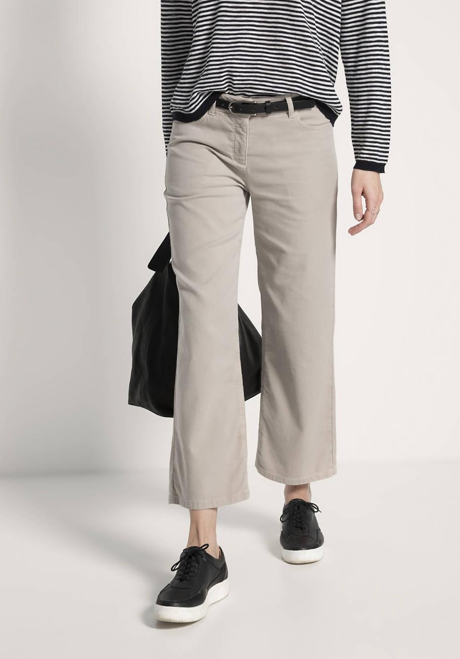 Hose aus Bio-Baumwolle mit Leinen