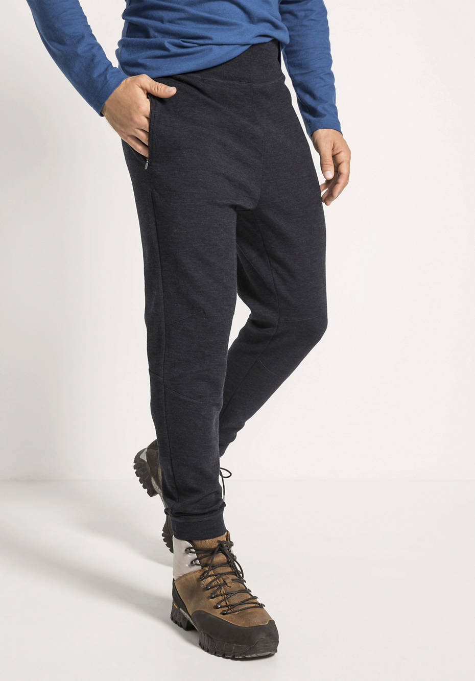 Hose aus Schurwolle mit Baumwolle und Elasthan