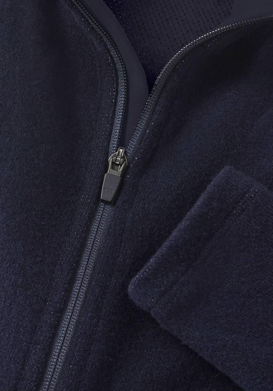 Jacke Mesh-Fleece aus Bio-Merinowolle mit Bio-Baumwolle