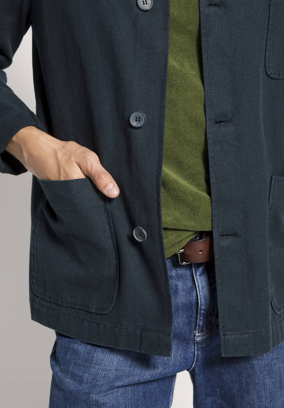 Jacke aus Hanf mit Bio-Baumwolle