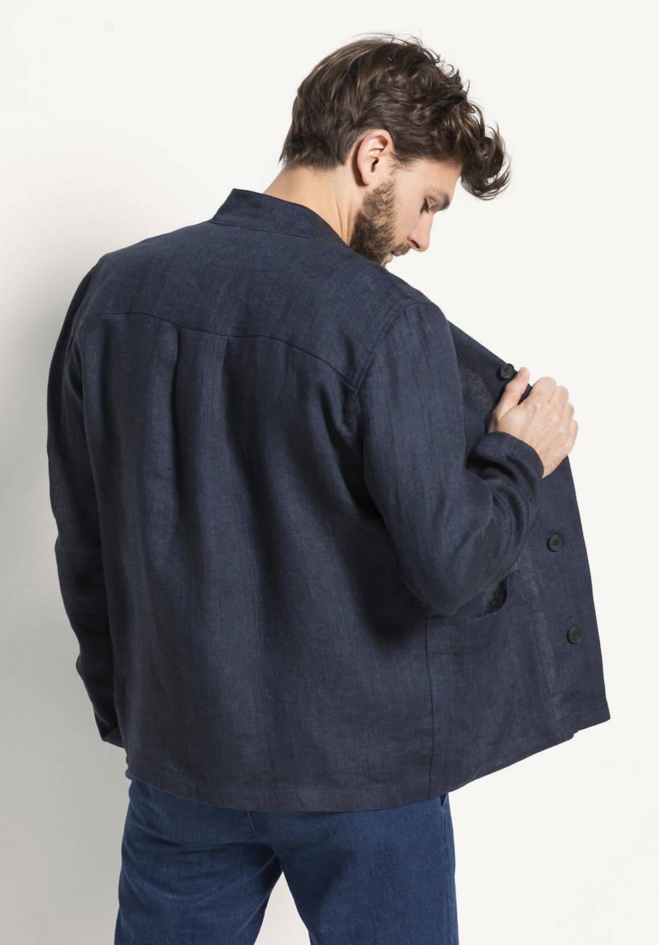Jacke aus reinem Bio-Leinen