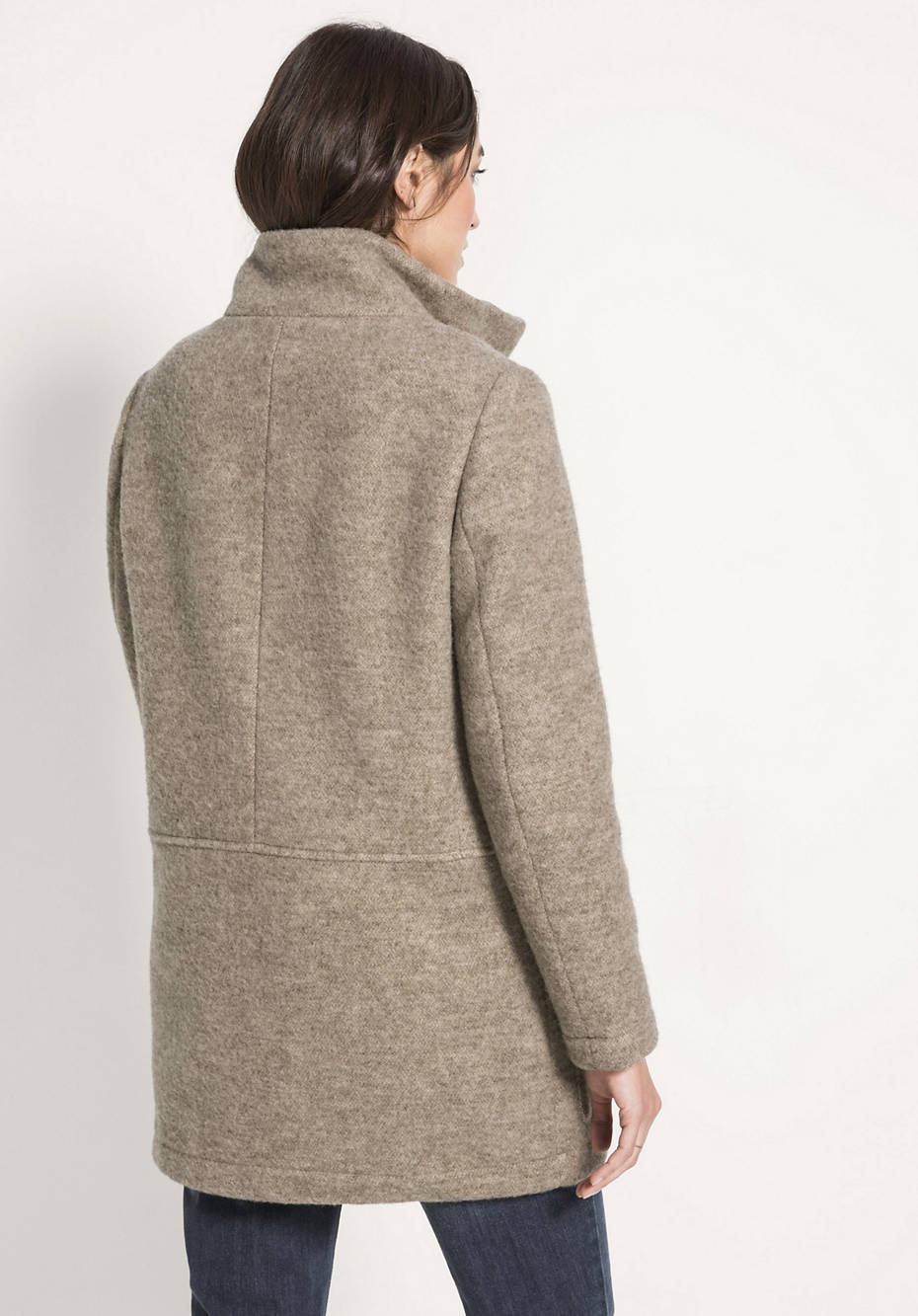 Jacke aus reiner Schurwolle vom Rhönschaf