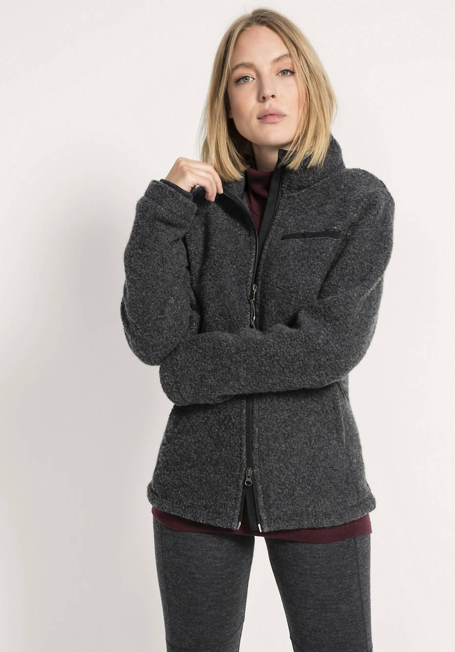 Jacke für Sie aus Schurwolle mit Bio-Baumwolle