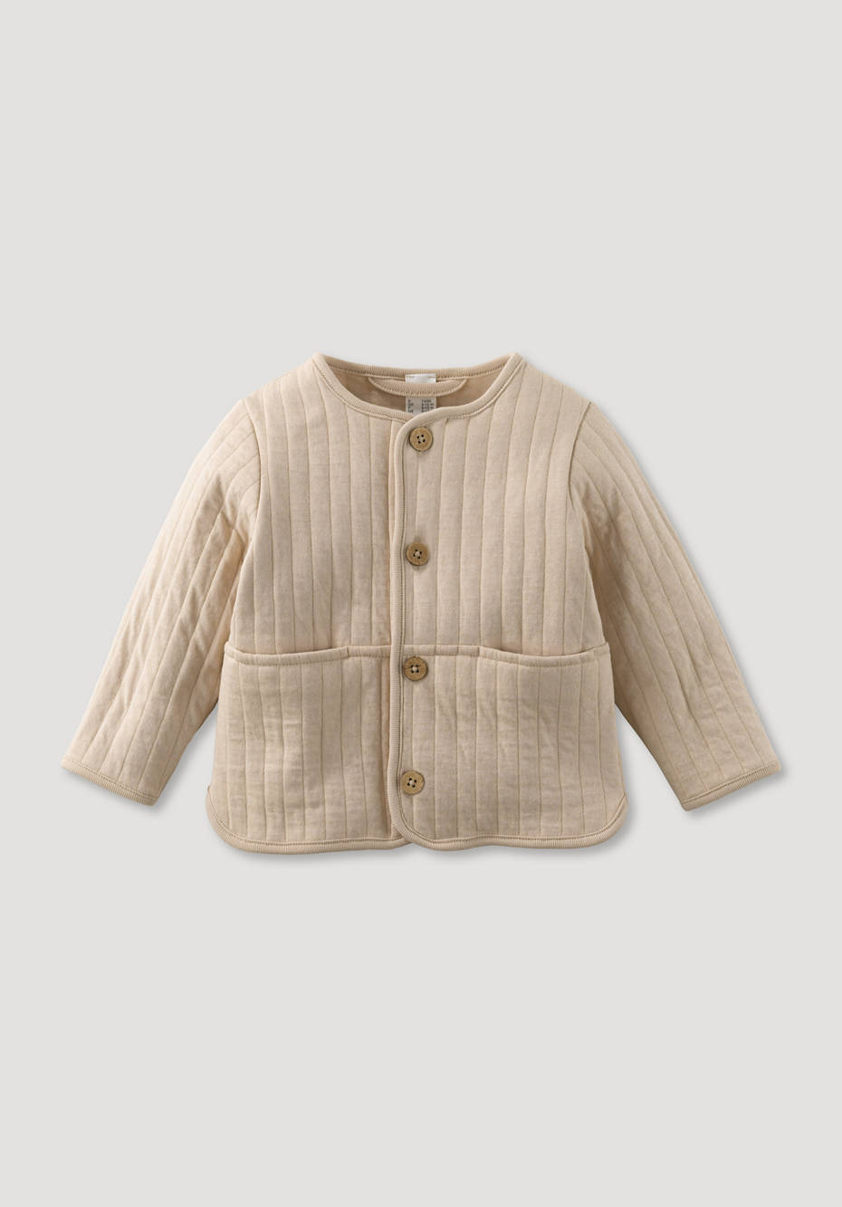 Jacket with quilted look, plant-dyed from pure organic cotton