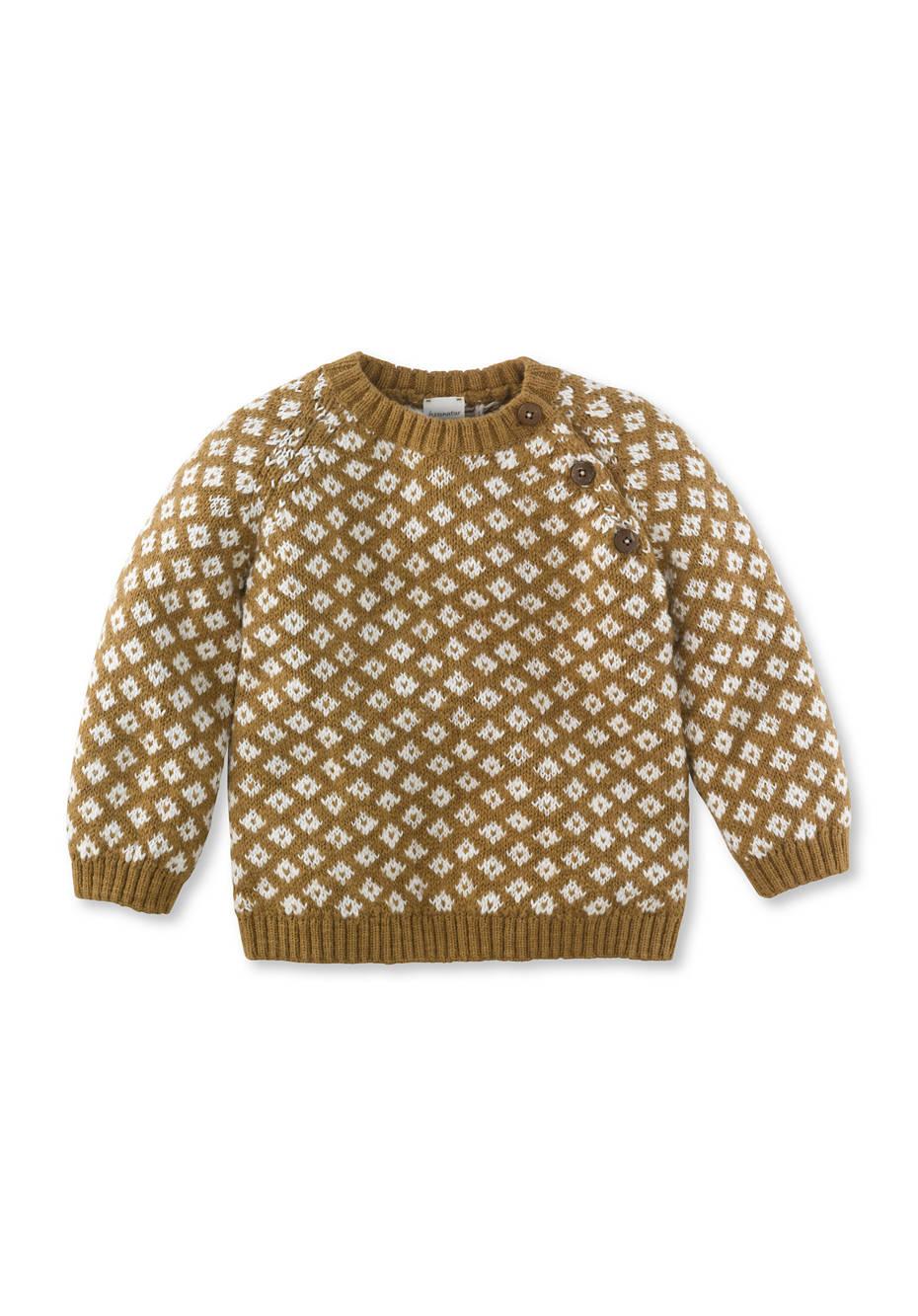 Jacquard-Pullover aus reiner Bio-Baumwolle