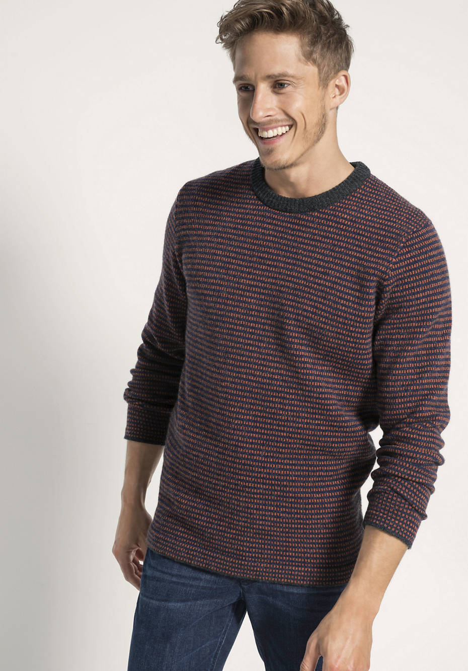 Jacquard-Pullover aus reiner Schurwolle