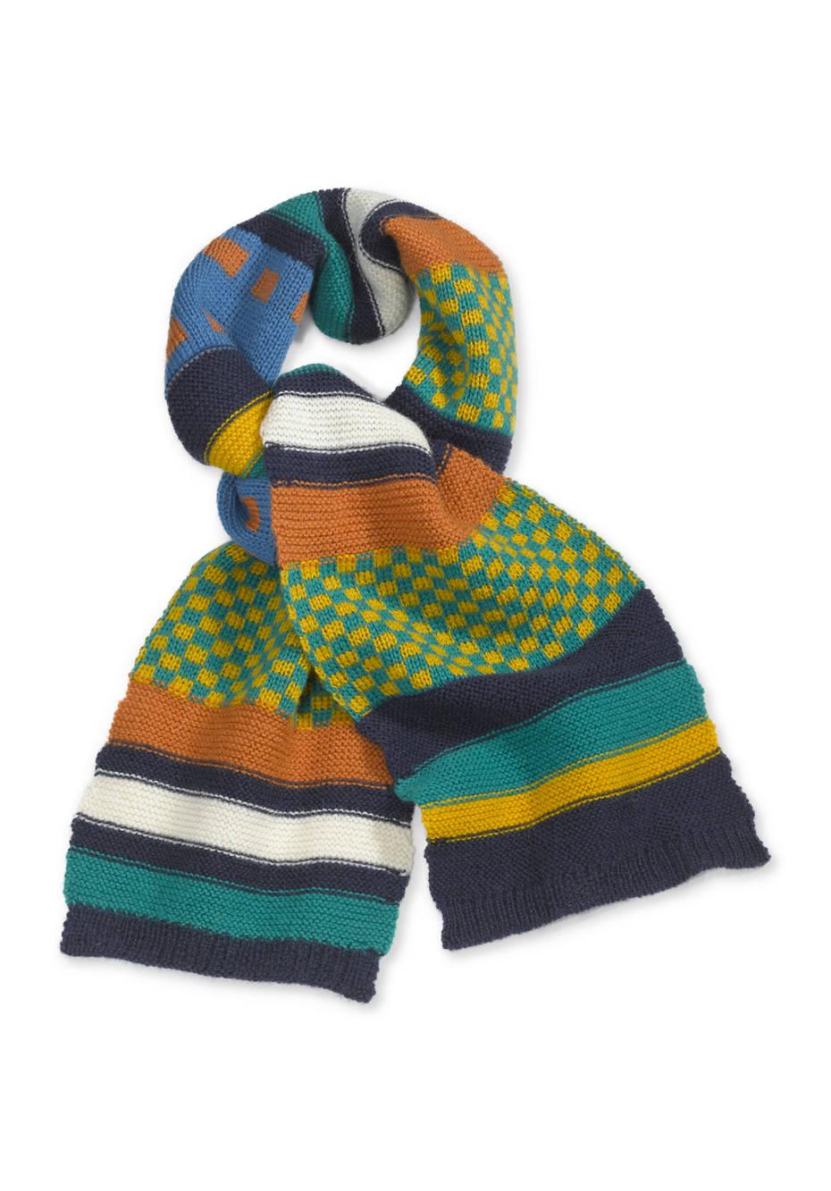 Jacquard-Schal aus reiner Merinowolle