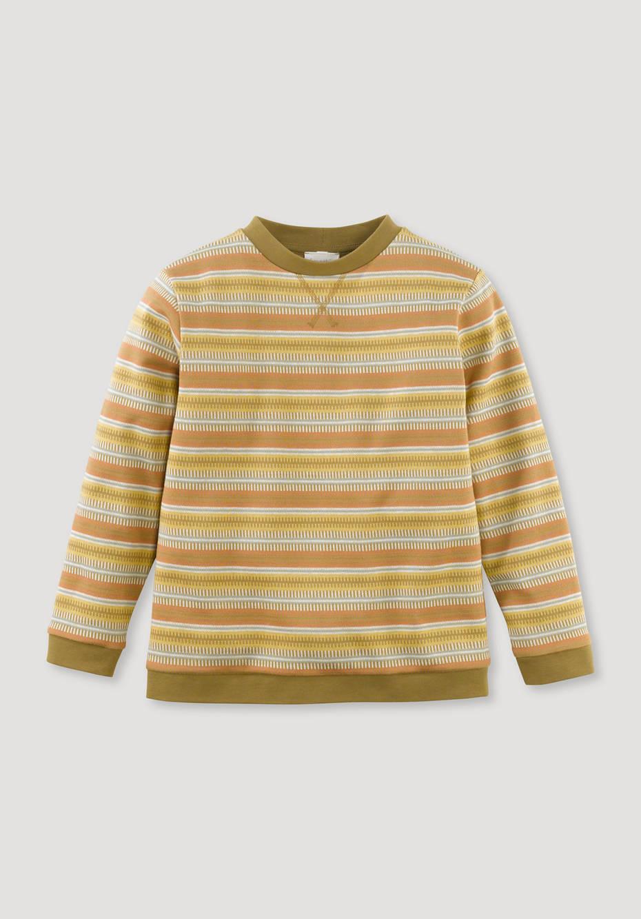 Jacquard-Sweatshirt aus reiner Bio-Baumwolle