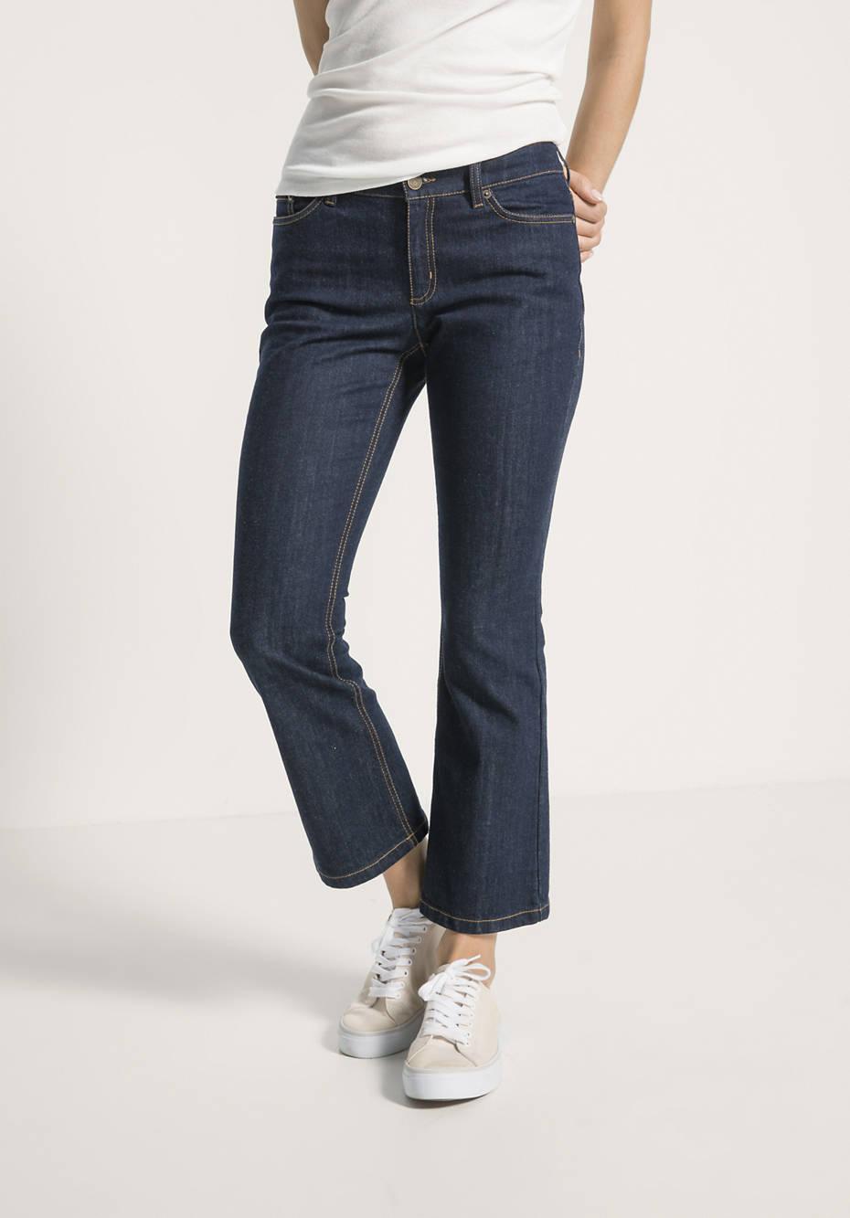 Jeans Baby Flared aus Bio-Baumwolle