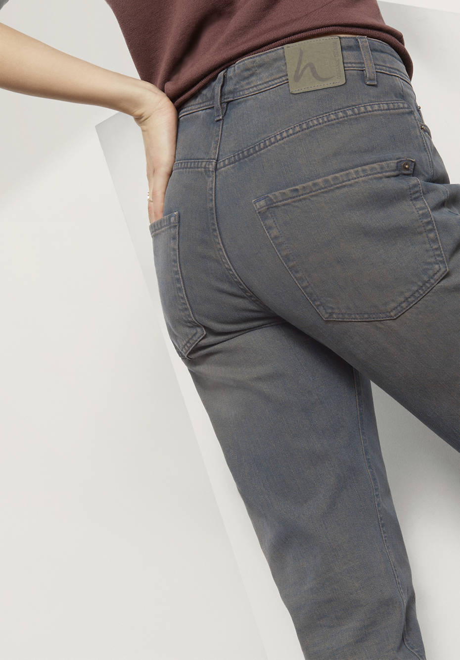 Jeans Boyfriend Fit aus reinem Bio-Denim