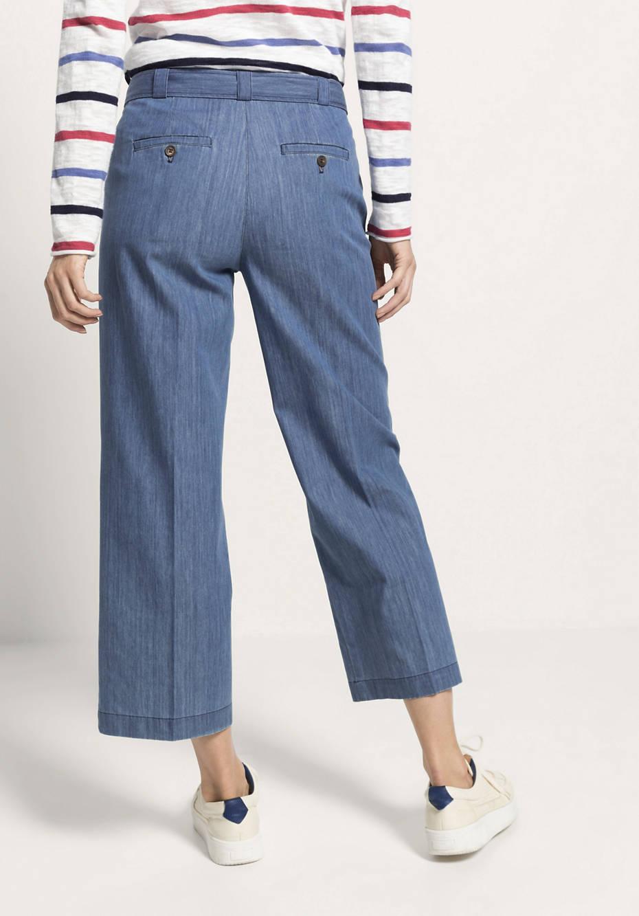 Jeans Culotte aus reiner Bio-Baumwolle