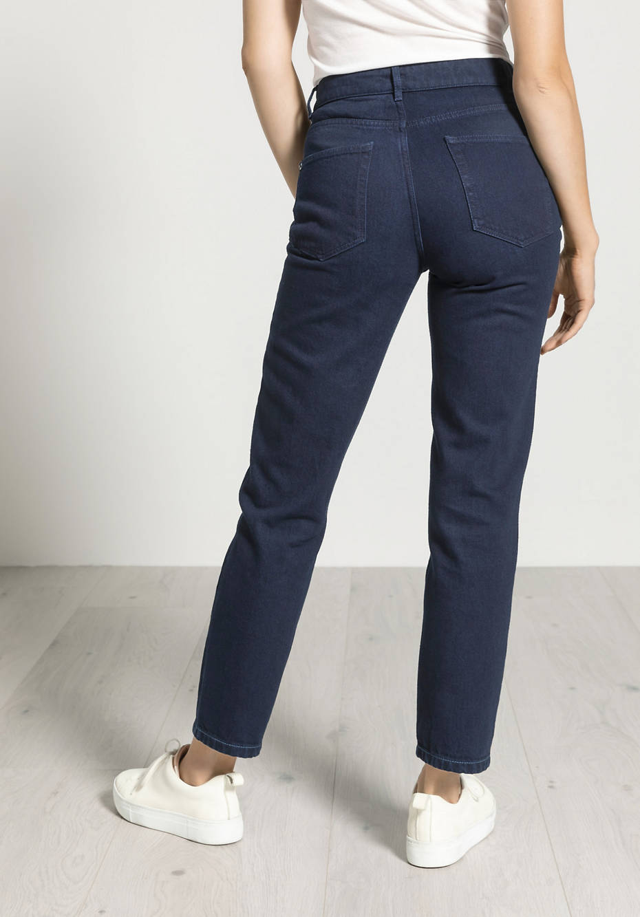 Jeans Mom Fit aus reinem Bio-Denim