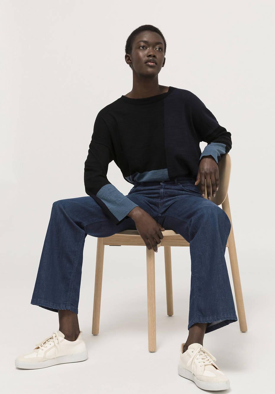 Jeans Wide Leg Flared aus BetteRecycling Bio-Denim