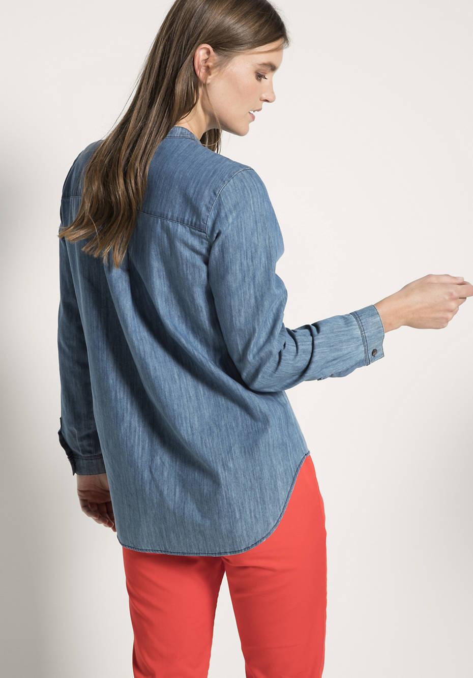 Jeansbluse aus reinem Bio-Denim