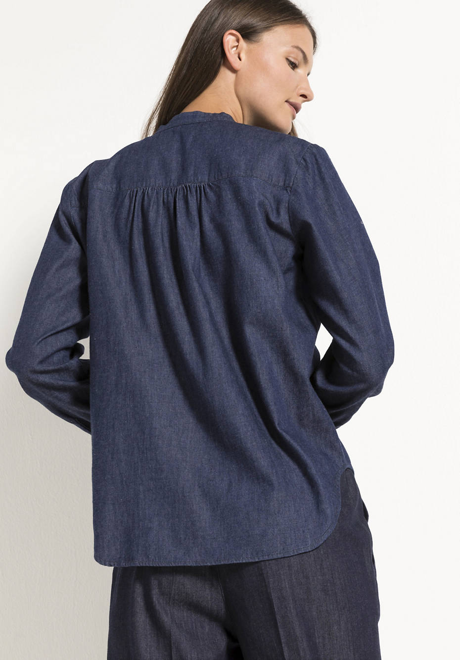 Jeansbluse aus reiner Bio-Baumwolle