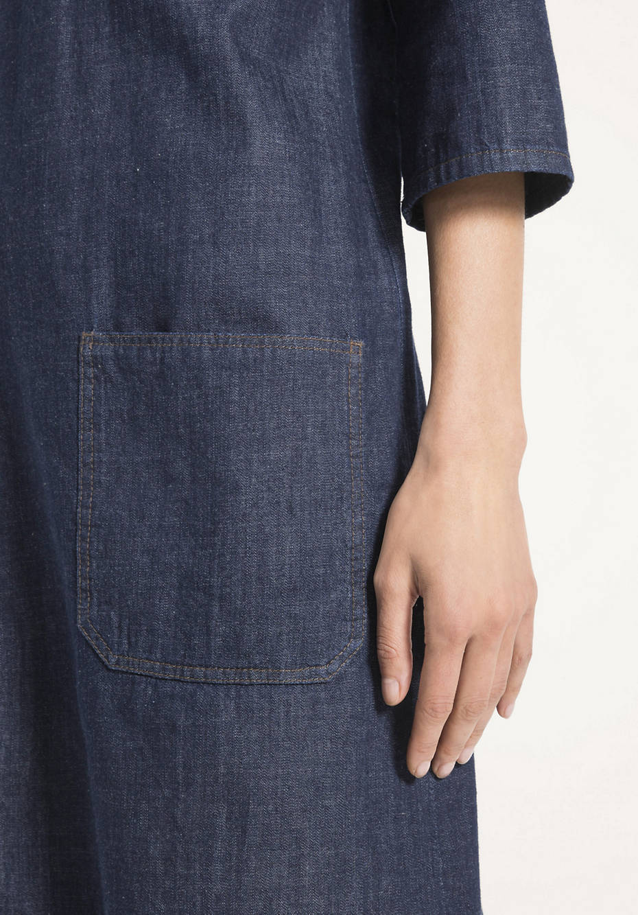 Jeanskleid aus reinem Bio-Denim
