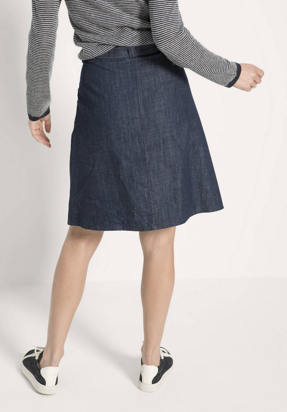 Jeansrock aus reiner Bio-Baumwolle