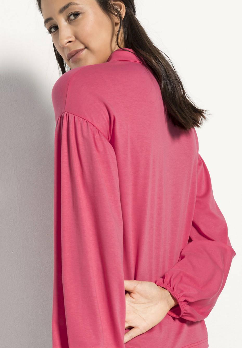 Jersey-Bluse aus reiner Bio-Baumwolle