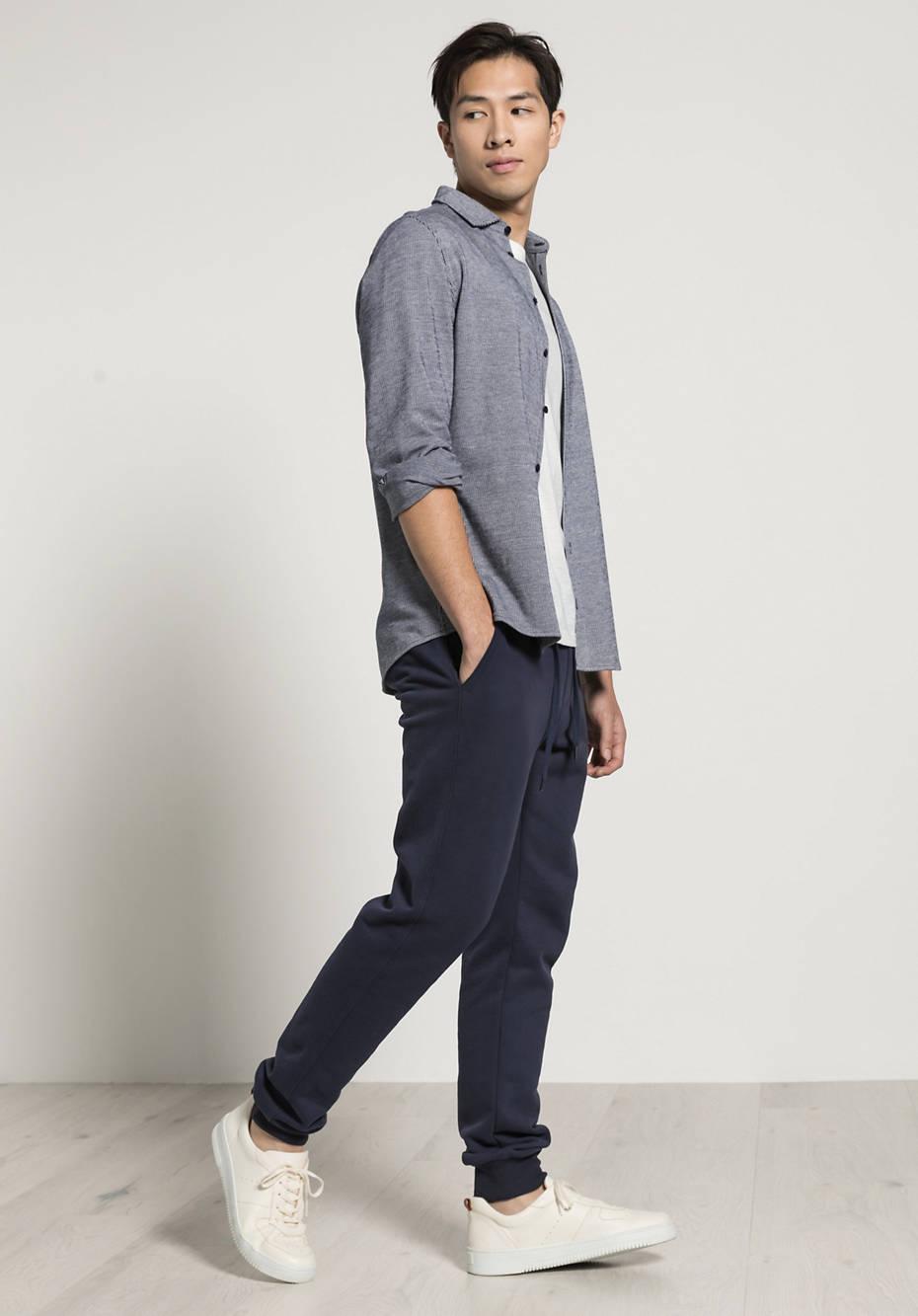 Jersey-Hemd Modern Fit aus reiner Bio-Baumwolle