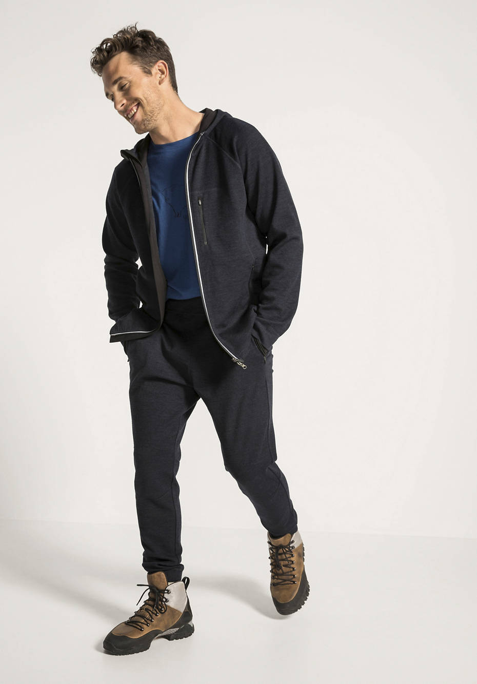 Jersey-Hose aus Bio-Merinowolle mit Bio-Baumwolle