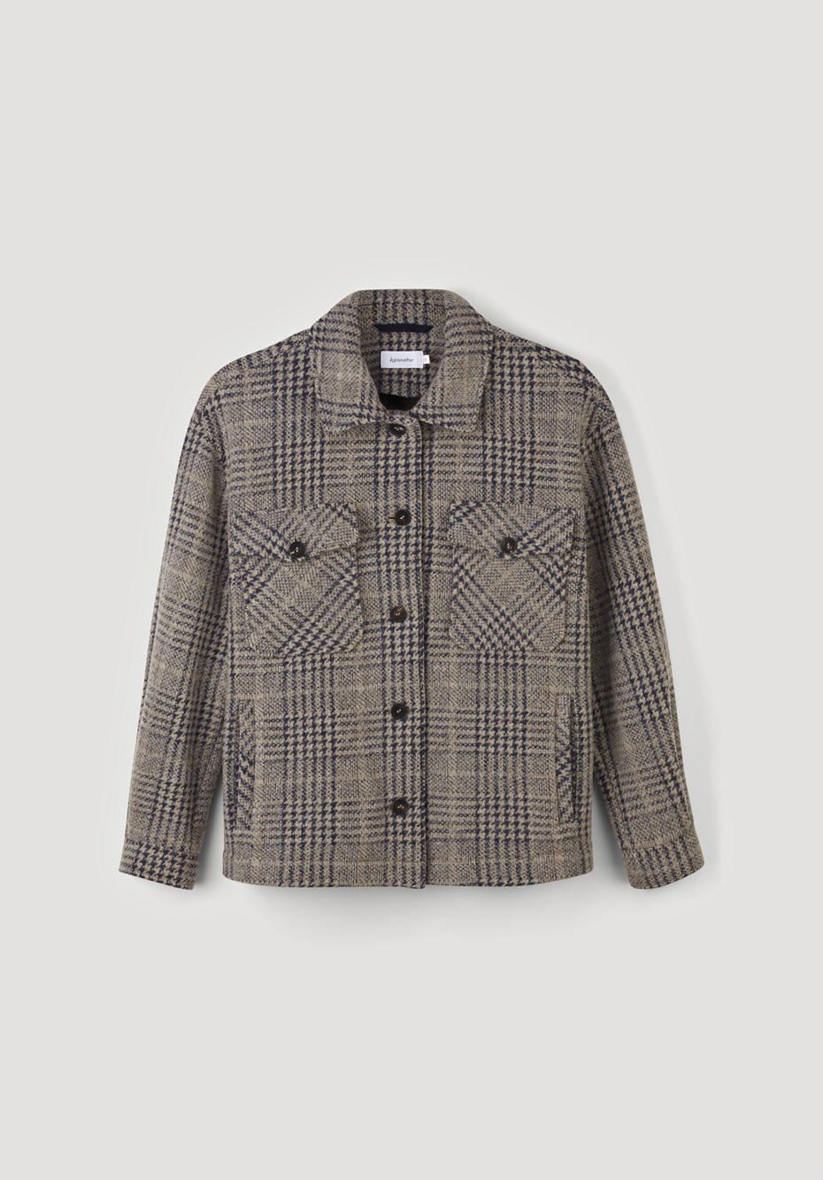 Jersey-Overshirt aus Bio-Schurwolle mit Bio-Baumwolle