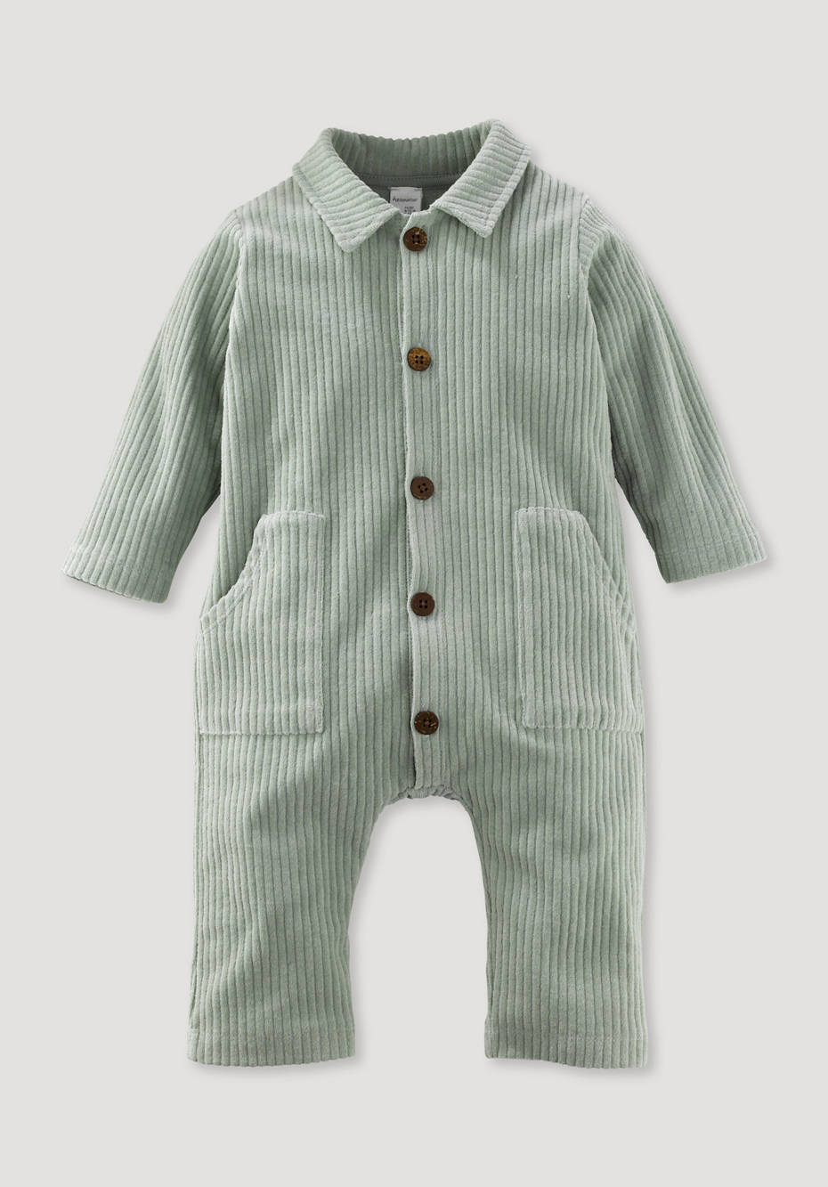 Jersey cord overall made of pure organic cotton