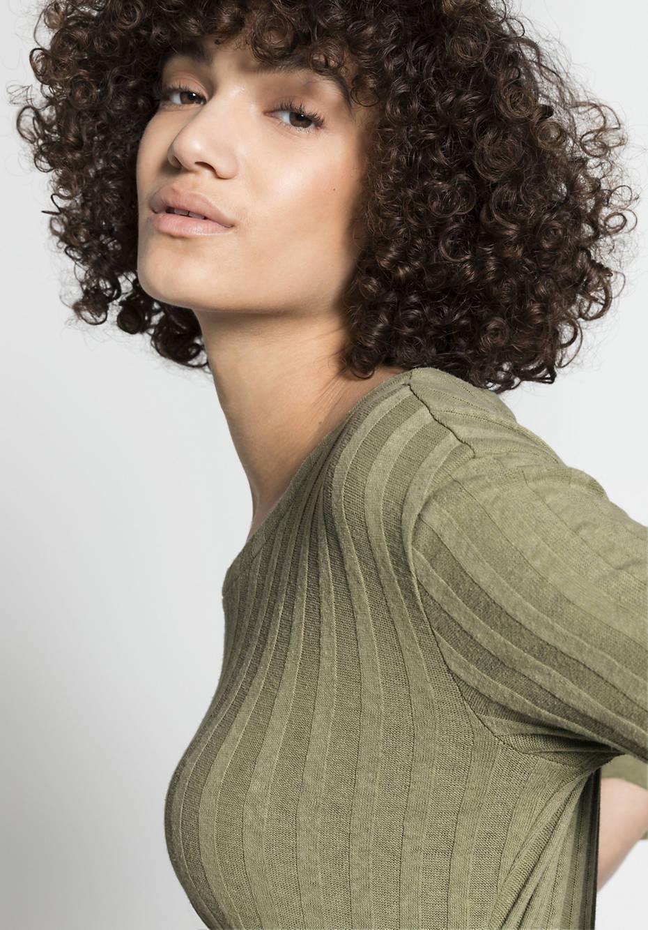 Jersey dress made of organic cotton with hemp
